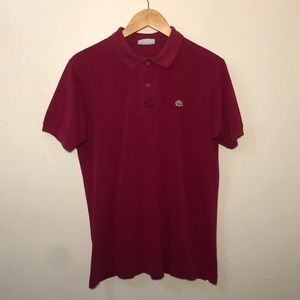 Lacoste Men's (S\4) Maroon Red Polo